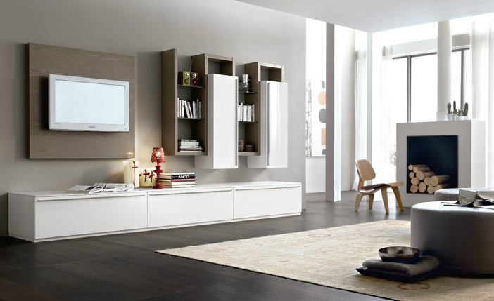 Soggiorni moderni mobilificio la noce for Soggiorni immagini