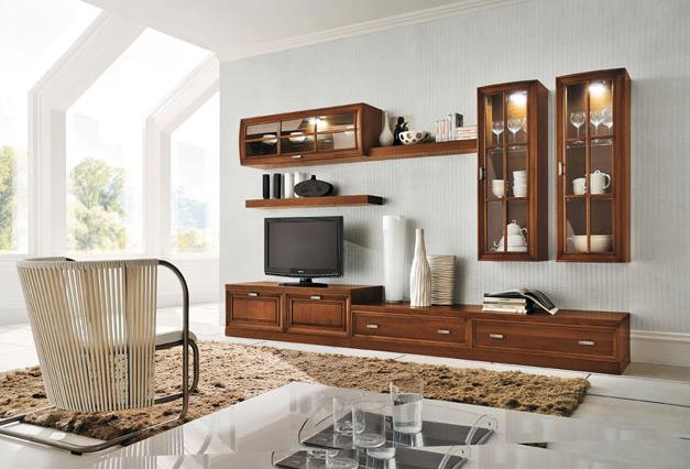 Soggiorni classici mobilificio la noce for Salotti mobili moderni