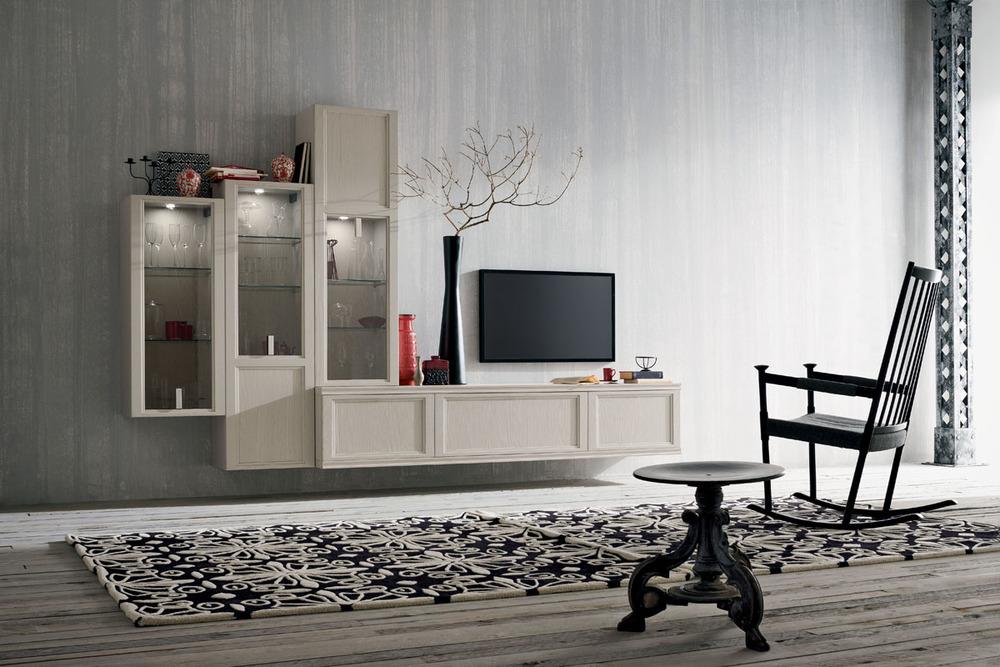 Soggiorni moderni u mobilificio la noce